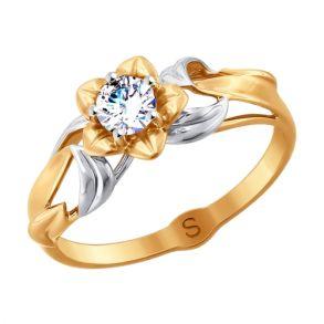 Кольцо из золота с фианитом SOKOLOV 017944