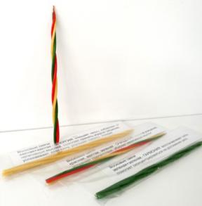 Снятие Сглаза и Порчи . Свеча Скрутка из 4-х свечей 21 см