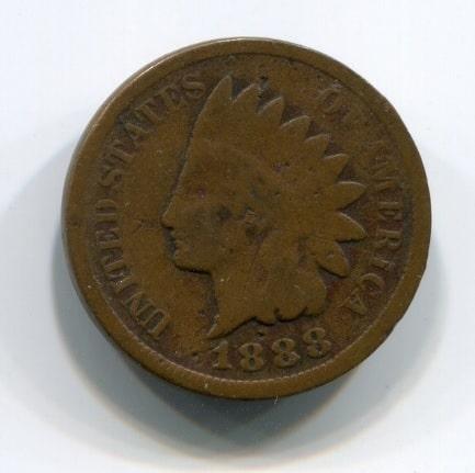 1 цент 1888 год США