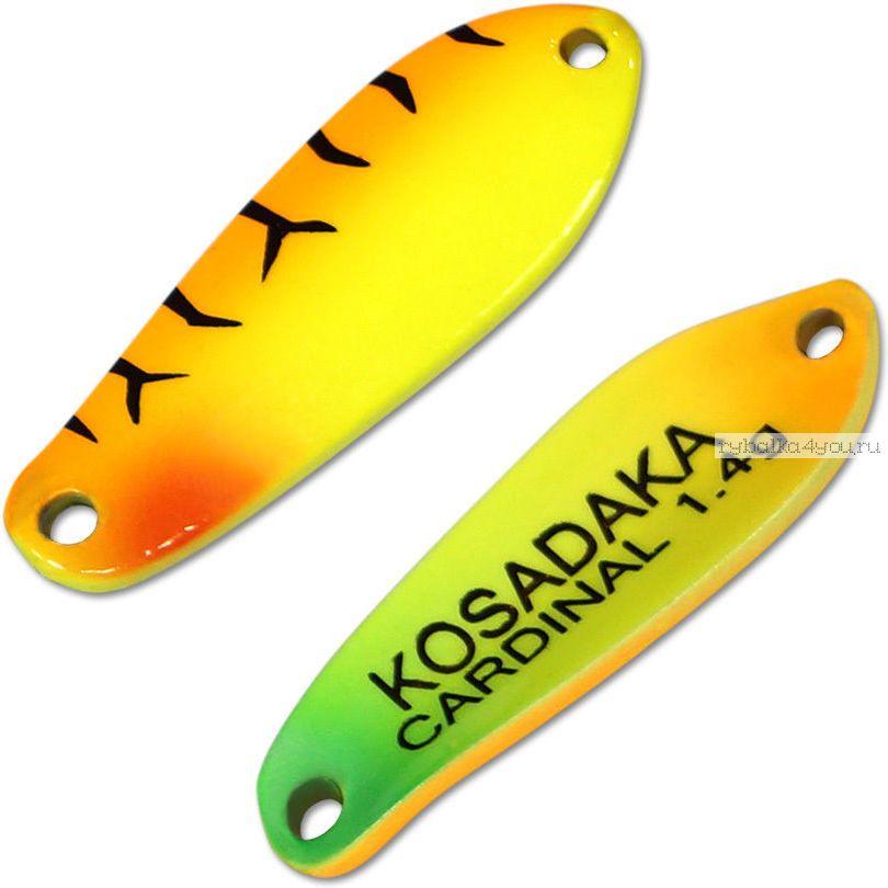 Блесна колебалка Kosadaka Trout Police Cardinal 1,4 гр / 25 мм / цвет: AK47