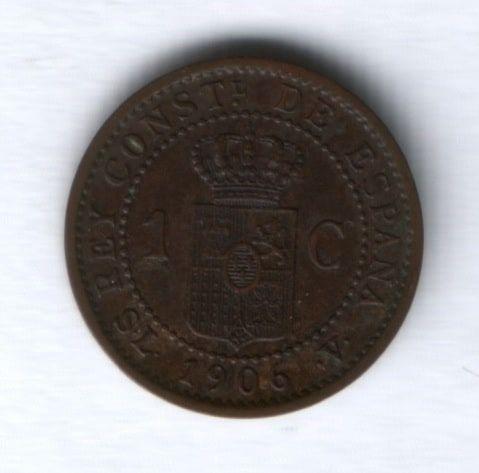 1 сантим 1906 года Испания