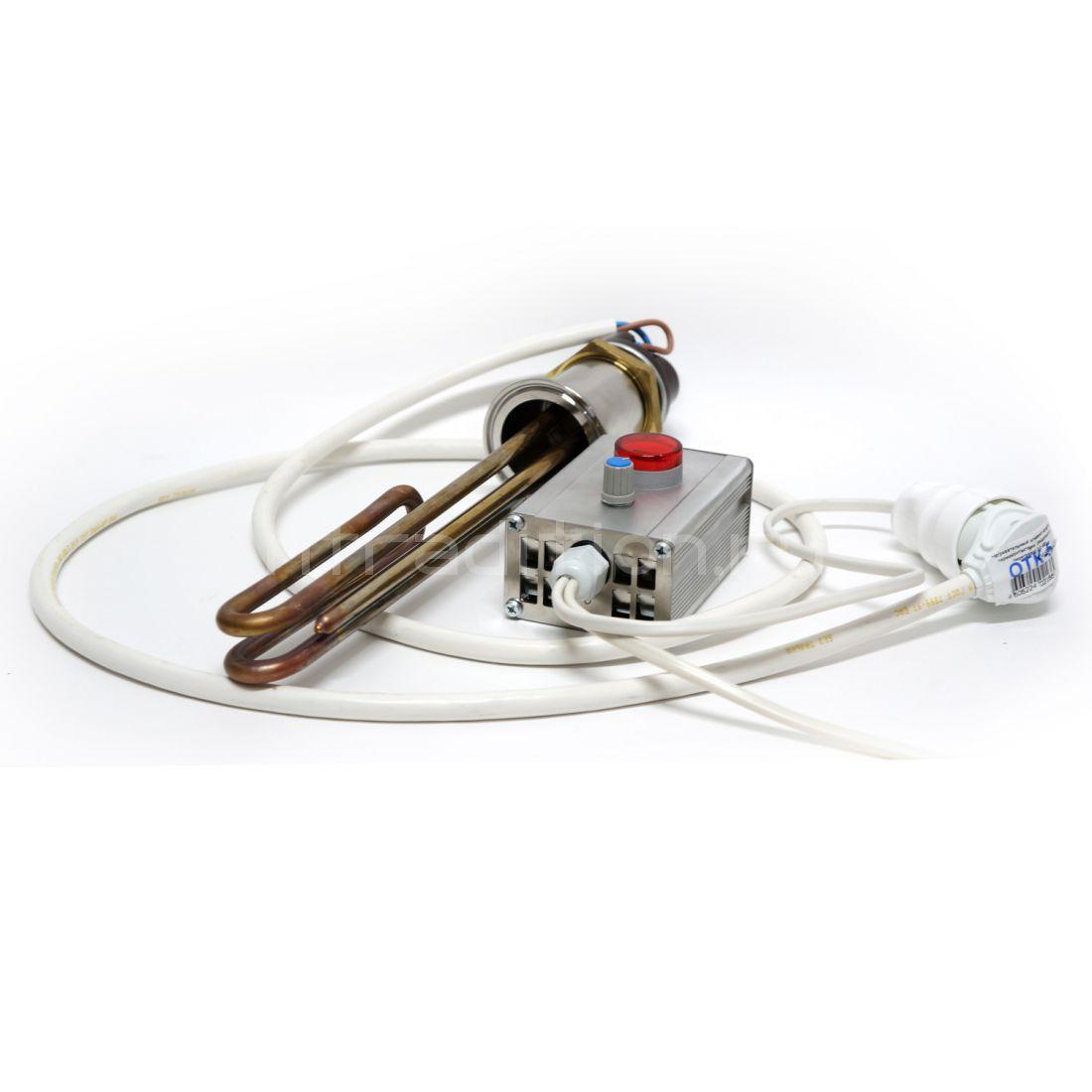 Система нагрева куба ТЭН с аналоговым регулятором мощности
