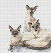 """""""Stillcat"""". Digital cross stitch pattern."""