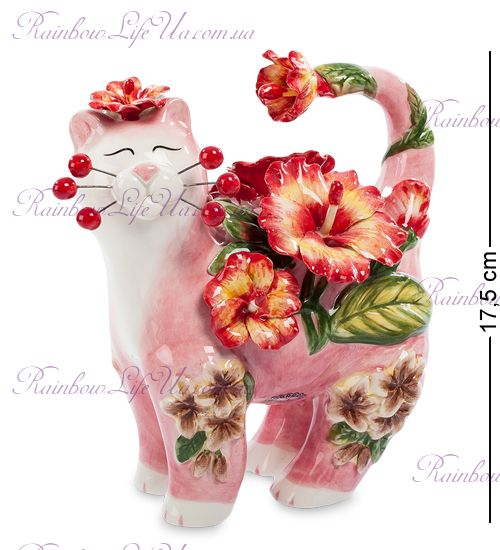 "Фигурка кот в цветах ""Pavone"""