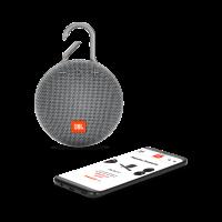 Купить оригинальную портативную bluetooth колонку JBL Clip 3 серого цвета в Москве в интернет магазине аксессуаров для смартфонов elite-case.ru