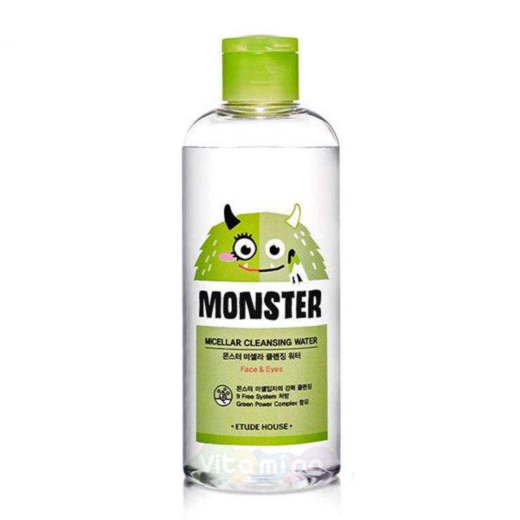 Etude House Мицеллярная вода Monster Micellar Cleansing Water