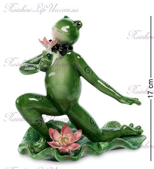 """Фигурка лягушка с цветком """"Pavone"""""""