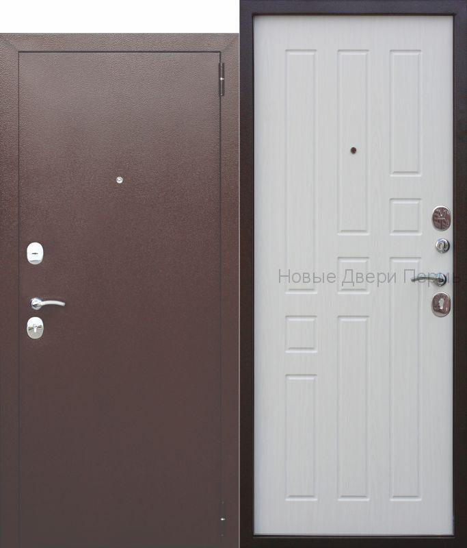 """""""БРИДЖ"""" 8мм. Белый ясень входная дверь в квартиру"""