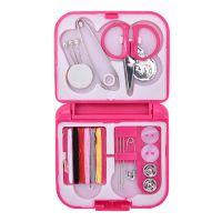 Дорожный Набор Швейных Принадлежностей В Футляре, 15 предметов, Цвет Розовый (1)