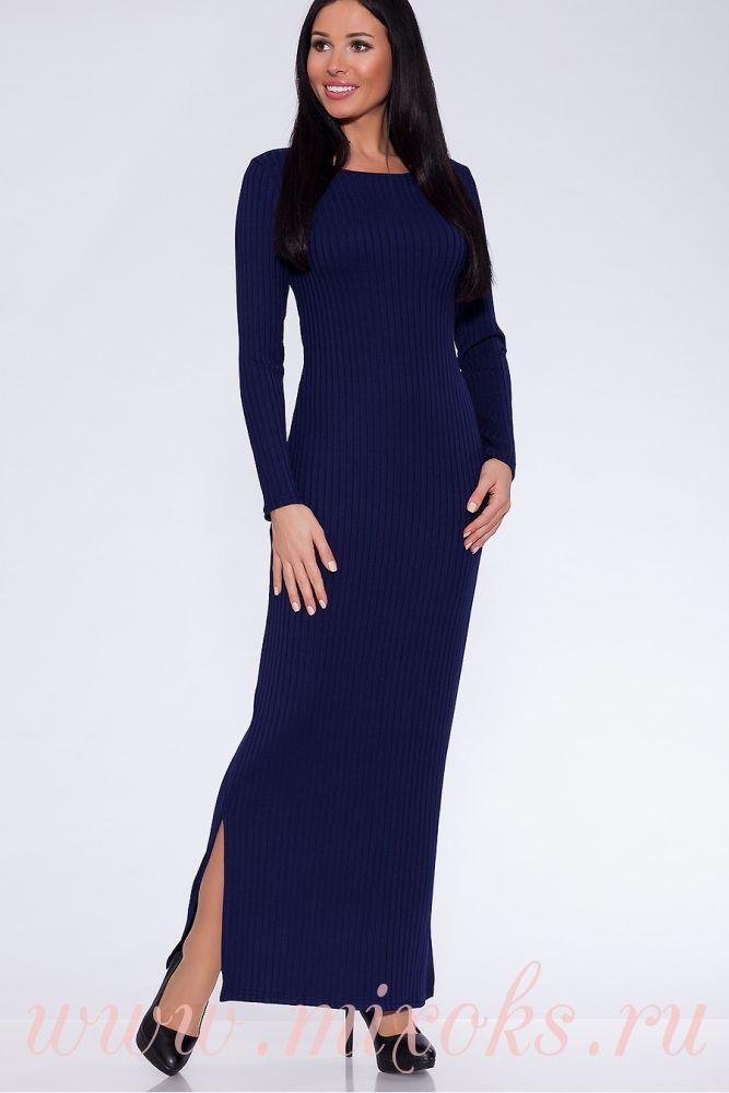 Вязаное платье макси