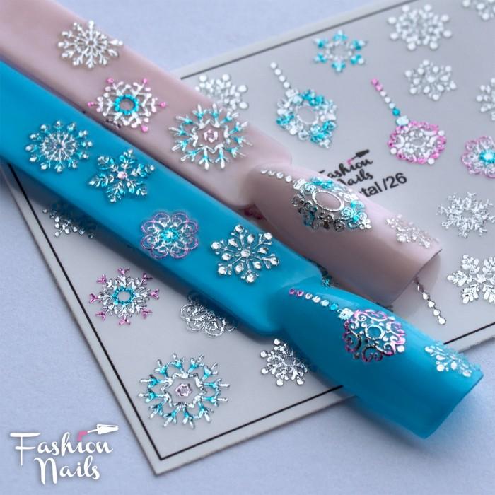 3D слайдер дизайн Fashion Nails Crystal 26