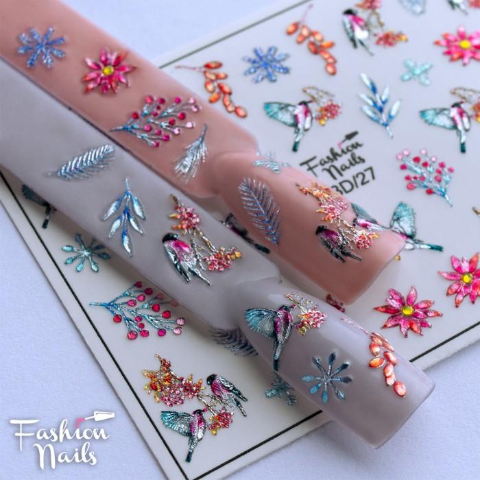 3D слайдер дизайн Fashion Nails Crystal 27