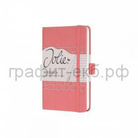 Книжка записная SIGEL JOLIE FLAIR А5 174стр.лин.тв.обл. коралловая JN203