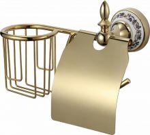 Держатель для туалетной бумаги и освежителя Savol S-R06851B.золото