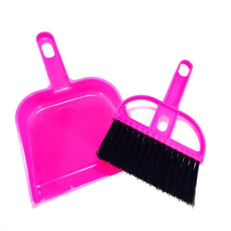 Набор мини-метёлка и совочек MINI DUSTPAN SET, Цвет Розовый