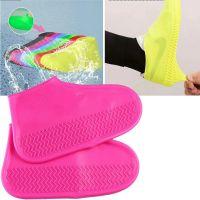 Водонепроницаемые Защитные Чехлы для Обуви Waterproof Silicone Shoe Cover, Цвет Розовый (1)
