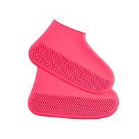 Водонепроницаемые Защитные Чехлы для Обуви Waterproof Silicone Shoe Cover, Цвет Розовый (2)