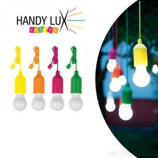 Беспроводные светодиодные лампочки со шнурком Handy lux Colors, 4 шт