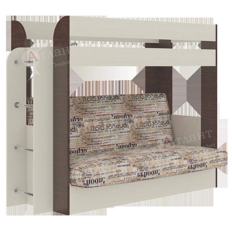 Кровать с диваном Карамель 75 (Атлант)