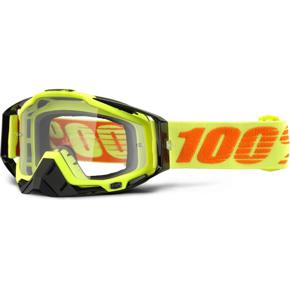 100% - Racecraft Attack Yellow очки, прозрачная линза