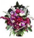 Ритуальная корзина из искусственных цветов N20, РАЗМЕР 60см, 80см,90 см