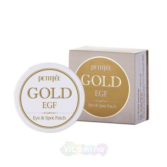 Petitfee Гидрогелевые патчи для кожи вокруг глаз с золотом Gold & EGF Eye Spot Patch, 60 шт