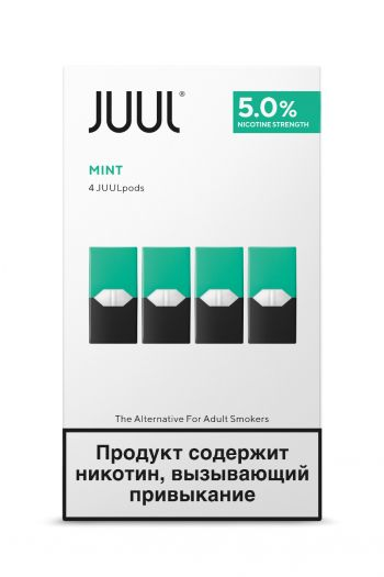 Картридж Juul Labs x4 JUUL Мята (59 мг)