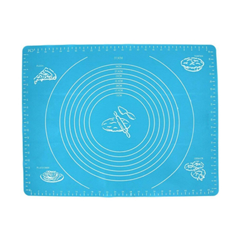 Силиконовый коврик для раскатывания теста, 50х40 см, цвет - голубой.