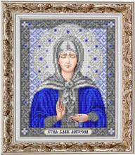 ИС-4055 Славяночка. Святая Блаженная Матрона в серебре. А4 (набор 875 рублей)