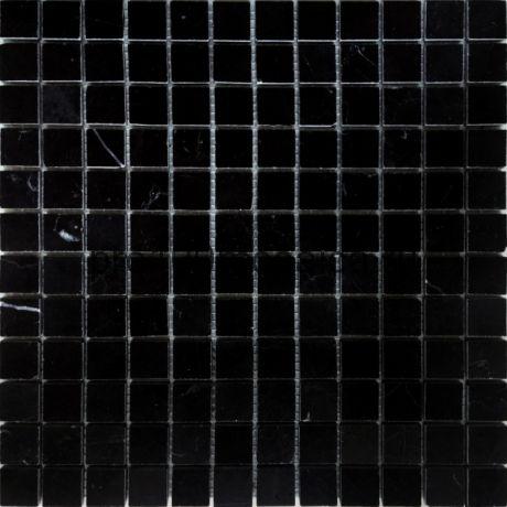 Мозаика Pietrine - Nero Oriente полированная 29,8x29,8х0,4 см (чип 23х23х4 мм)