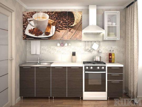 Кухня ЛДСП 2,0 м с фотопечатью