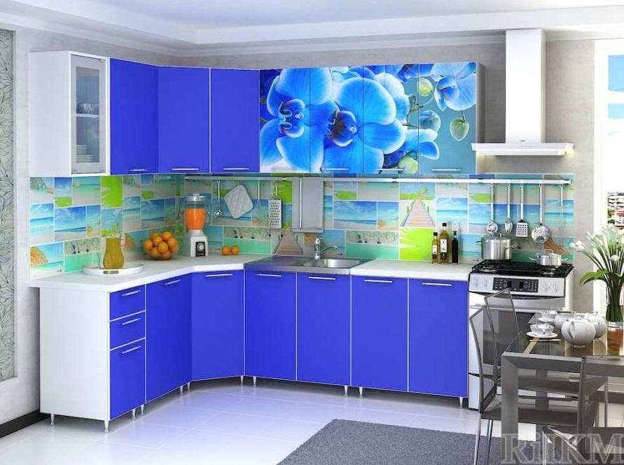 Кухня ЛДСП с фотопечатью