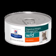 Hill's PD Feline w/d Диетический корм при ожирении, диабете и колите (конс. 156 г)