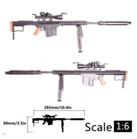 Сборная модель Снайперская винтовка Barrett M82A1 1:6