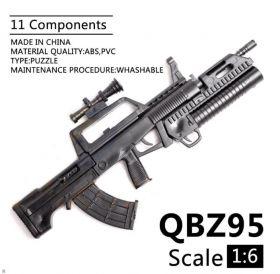Сборная модель оружия винтовка QBZ-95  1:6