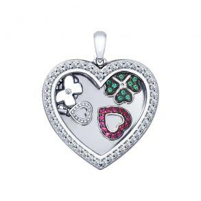 Подвеска из серебра «Сердце» 94031947 SOKOLOV