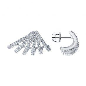 Серьги из серебра с фианитами 94023616 SOKOLOV