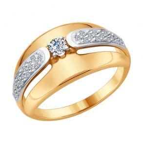 Кольцо из золота с бриллиантами 1011650 SOKOLOV