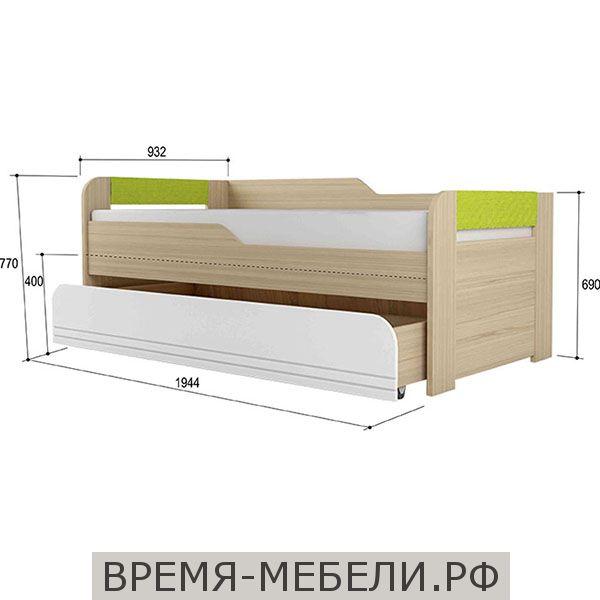 """""""Стиль 900.1"""" Кровать 2-уровневая Лайм"""