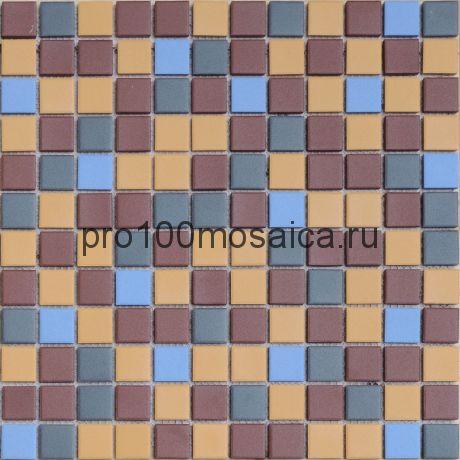 Мозаика из керамогранита неглазурованная с прокрасом в массе Supernova 30х30х0,6 см (чип 23х23х6 мм)