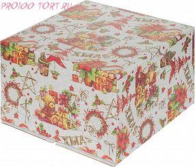 Коробка для торта без окошка XMAS 300х300х190