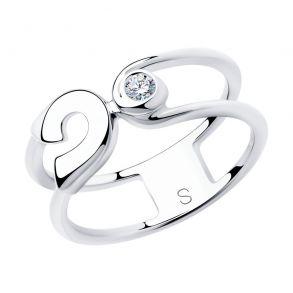Кольцо из серебра с фианитом 94012986 SKLV