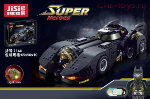 Конструктор JISI BRICKS Super Heroes 1989 Batmobile 7144 (Аналог LEGO Super Heroes 76139) 1778 дет