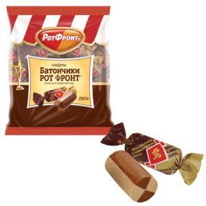 Конфеты Рот Фронт Батончики шоколадно-сливочный вкус 250гр.