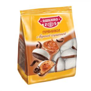 Пряники Яшкино с вареной сгущенкой 350гр.