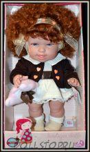 Игровая кукла Андреа Рыжеволосая кудряшка с мишкой-теребишкой  (Бержуан) - Andrea doll (Berjuan)