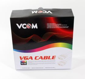 VCOM VVG6448-15M, Black кабель VGA 15M/15M (15 м)