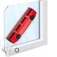 Магнитная щетка для мытья окон с двух сторон Glider (8)