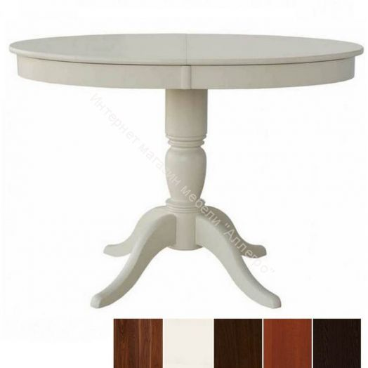 Стол овальный из дерева Фламинго 6