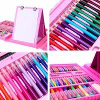 Набор для рисования со складным мольбертом в чемоданчике, 176 предметов, Цвет Розовый (3)